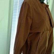 Ladies Jacket by Gap Size Medium Brown  Fully Lined Front Zipper /   Photo