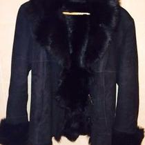 Ladies Jekel Black Shearling Jacket Coat Made in France Nice  Photo