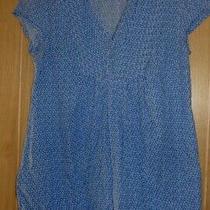 Ladies Jo Jo Maman Bebe Blue & White 100% Cotton Maternity Top Size 8  Photo