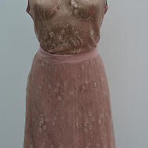 Ladies Kaliko Blush Pink Lace Top Skirt Special Occasion Suit Women Size 18 Photo