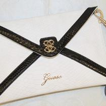 Ladies Large Size Confession Envelope Clutch Purse White Multi  Gu-9961 Photo
