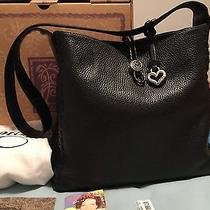 Ladies Leather Brighton Handbag (Macy) Blk 9.5 in Height 10.5 in Wide Photo