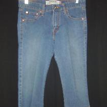Ladies Levi's Superlow 518 Stretch Denim Capri Jeans Size 9 Low Rise Photo