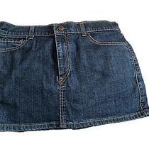 Ladies Levis Blue Denim Skirt Size 8-10 Photo