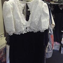 Ladies Long Dress White and Black. Beautiful Dress  Photo
