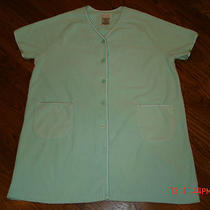 Ladies Lounger/robe Anne Lewin New York Size Large Aqua Blue Photo