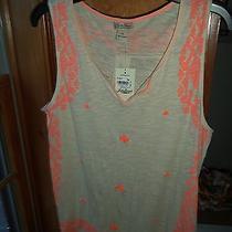 Ladies Lucky Brand T-shirt.....sz.xl...beige/orange....nwt. Photo