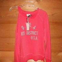 Ladies Lucky Brand Washed and Worn Red Sweatshirt Size X Small new(59.50) Photo
