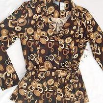Ladies M Button Up Long Sleeve Shirt Classic Elements Moleskin Dress Jacket Nwt Photo
