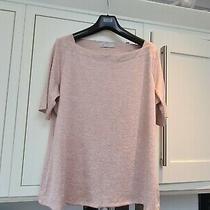 Ladies m&s Blush Pink Short Sleeve T-Shirt Top Size 16 Photo