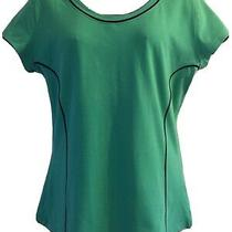 Ladies m&s Green Tshirt Top Size 12 Excellent Condition Sport Fitness Photo