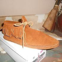 Ladies Minnetonka Moccasin With Tie and Fringe Size 10 Photo