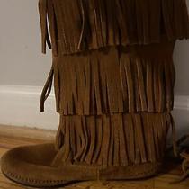 Ladies Minnetonka Triple Fringle Boots Size 8 Photo