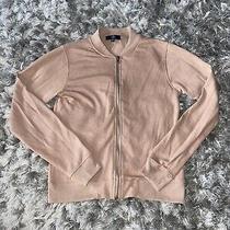 Ladies Misguided Size 8  Bomber Jacket Zip Up Blush  Photo