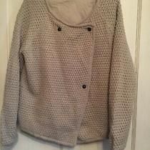 Ladies Natural Open Knit Lined Wool Blend Jacket From Gap Size M Photo