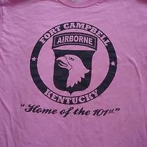 Ladies Neon Pink U.s. Army 101st Airborne Fort Campbell Ss T-Shirt - Size Large Photo