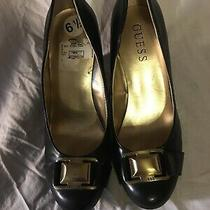 Ladies New Guess Brown Wedge Pumps Sz 6.5 Photo