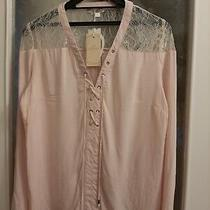 Ladies New   v Neck   Blush Pink   Size L Blouse 40 in  Chest    Long Sleeves   Photo