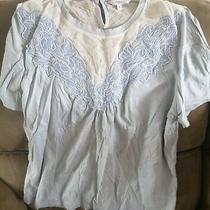 Ladies Next Summer Top - Size 10 - Excellent Condition - Pale Blue/white Photo