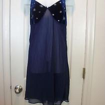 Ladies Nightie Sleepwear Gown by Avon Size 1x Navy Photo