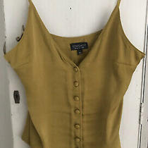 Ladies Olive Green Topshop Silky Cami Strappy Top Size 8 Photo