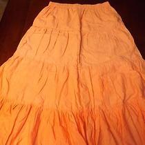 Ladies Orange Skirt Size Small Photo