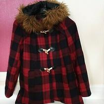 Ladies Parker Style Size 8 Coat.  Black & Red Check . Miss Selfridge .preowned Photo