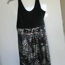 Ladies Party Dress Black and Silver Large New..size 12 at a Guess Photo