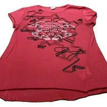 Ladies Pink Diesel T Shirt Size M Photo