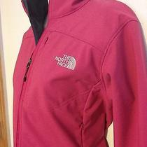 Ladies Pink the North Face Tnf Apex Bionic Softshell Jacket Size M Euc Photo