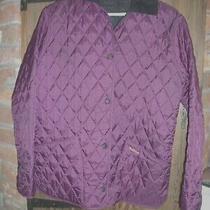 Ladies Purple Quilted Barbour Liddesdale Jacket Uk 12 Photo