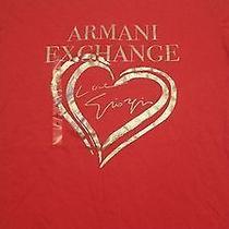 Ladies Red Armani Exchange  Red Top Large Photo
