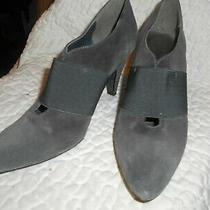 Ladies Relativity Shoes Size 6 1/2 M Gray Suede Heels