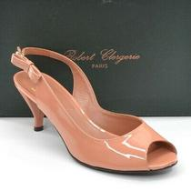 Ladies Robert Clergerie Orok Slingback Heels 8.5 B Blush Patent Shoes New in Box Photo