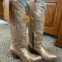 Ladies Rose Gold E1380 Corral Boots Size 9 Photo