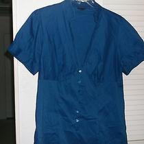Ladies Royal Blue Blouse Size 1 Photo