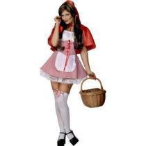 Ladies Sexy Little Red Riding Hood Fancy Dress Costume Size 12/14 Photo