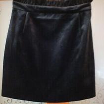 Ladies Short Black Velvet Skirt by Topshop.  Size 6 Photo
