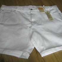 Ladies Shorts Size 24 Denim White New & Tag Marks & Spencer  Cotton 1% Elastane Photo