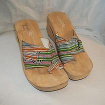 Ladies Size 10 Skechers Buckled Fabric Sandals Heel Shoes Open Toe Photo