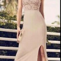 Ladies Size 14 Lipsy by Abbey Clancy Sequin Split Dress Bnwt Blush Pink Photo