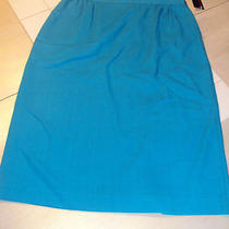 Ladies Size 16 Light Aqua Skirt a Line Koret Dressy Business Office Wear Nwt  Photo