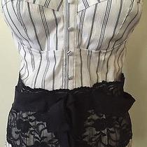 Ladies Size L Large Cotton Express Lace Corset Tube Top Blouse Shirt Photo