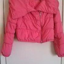 Ladies Size S Bcbg Max Azria Pink Puffy Jacket  Gently Worn Photo