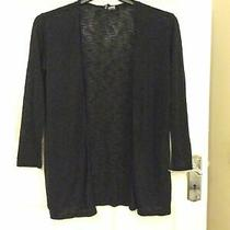 Ladies Size S Black Long Sleeve Lightweight Open Cardigan by h&m Photo