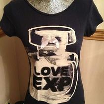 Ladies Size Small Express Navy Blue Top With Perfume Bottle Love Exp Photo