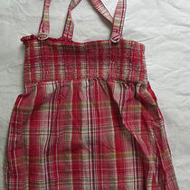 Ladies Size Small Guess Red Plaid Summer Top Photo