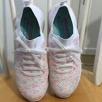 Ladies Skechers Air Cooled Memory Foam Slip on Sneakers W/ Faux Lace Detail Photo