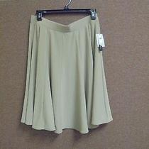 Ladies Skirt Nwt Grace Elements Size L Color Tan Retailed Price 50.00  Photo