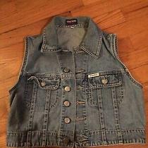 Ladies Small Guess Jeans Vintage Vest Photo